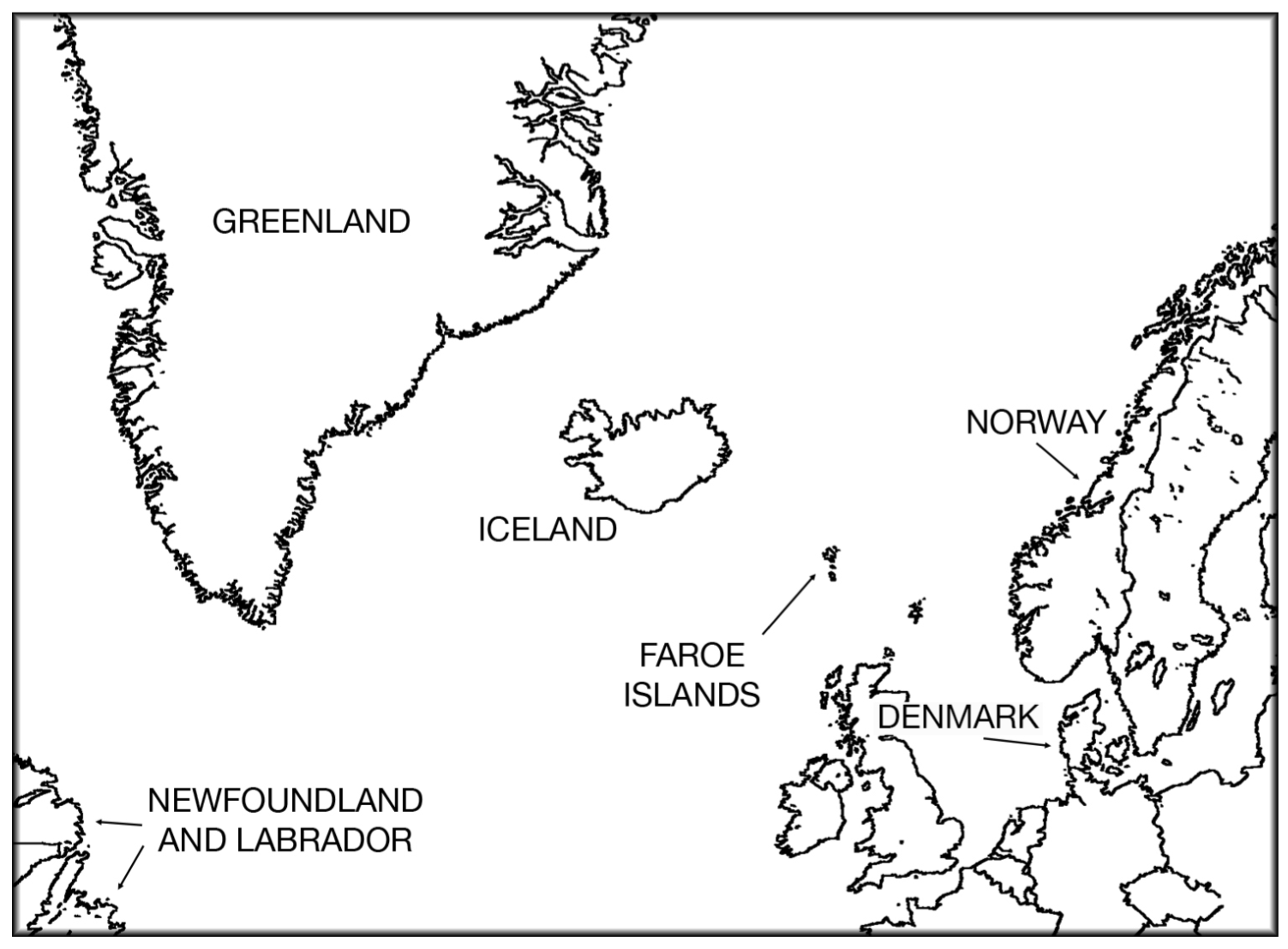 Map Of Newfoundland And Iceland on map of newfoundland and prince edward island, map of newfoundland and labrador, map of newfoundland and nova scotia,